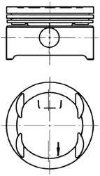 Поршень комплект 79.0mm  STD