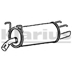 Глушитель выхлопных газов конечный OMEGA B/ KADETT D
