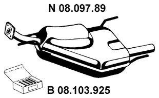 Глушитель выхлопных газов конечный VECTRA B/VECTRA B универсал